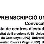 Preinscripció universitària 2017: lista actualitzada de centres d'estudi i places disponibles (convocatòria de juny)