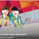 Preinscripció i matrícula universitària 2017: informació general, dates i terminis.