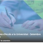 Selectivitat 2017, convocatòria de setembre: estudiants matriculats i data de consulta de les notes.